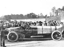 CHITTY BANG BANG photo with Zborowski at the wheel in Brooklands Paddock c.1922